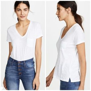 Madewell 🏜️ 2019 Whispe Cotton V Neck Pocket Tee